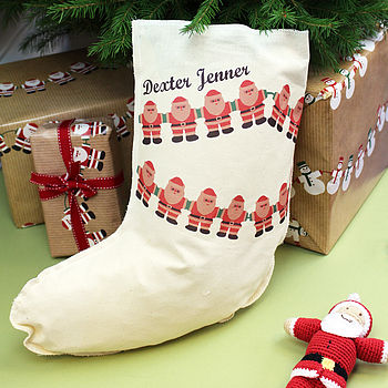 Personalised Christmas Bunting Stocking