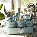 Gardeners Tidy Pots in Duck Egg Blue finish