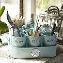 Gardeners Tidy Pots in Duck Egg Blue finish