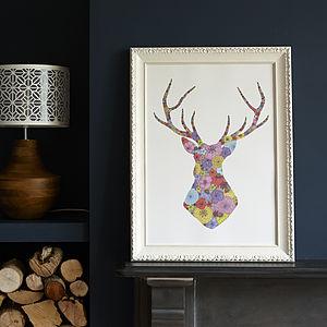Spring Stag's Head Print - prints & art