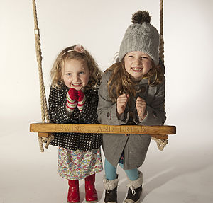 Personalised Oak Rope Swing - baby & child
