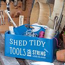 Shed Tidy in blue