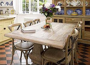 Elm Dining Table And Chairs - furniture