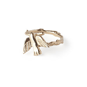 Fly Away With Me Bird Ring In Gold - rings