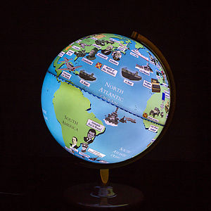 Second World War Light Up Globe - children's lighting