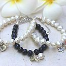 Personalised Pearl Bracelet With Birthstone Crystal