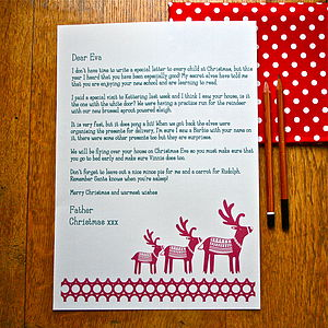 Christmas Personalised Letter From Santa - cards