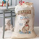 Personalised Woodland Christmas Sack   Hare