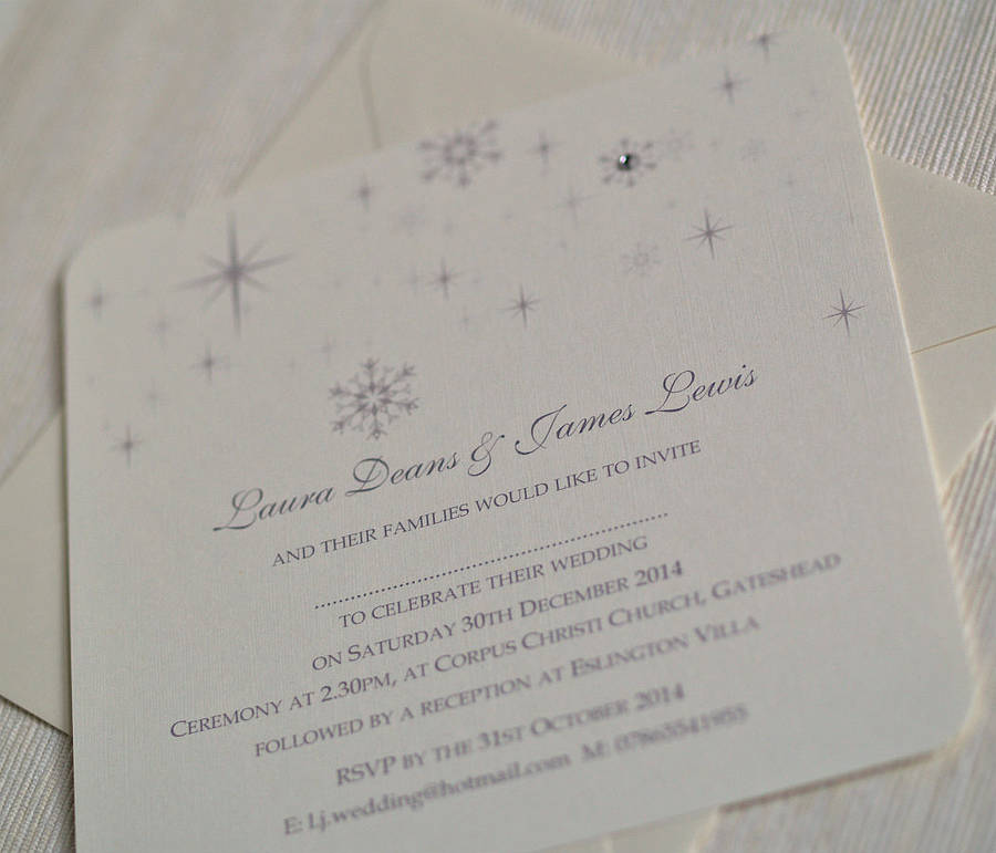 snowflake winter themed wedding invitations by beautiful day ...