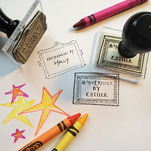 Personalised 'Masterpiece By' Stamp - writing paper & sets