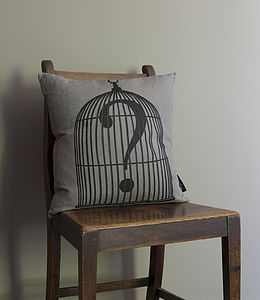 Caged Question Mark Cushion - cushions