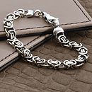 Men's Heavy Silver Chain Detail Bracelet