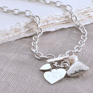 Sterling Silver Hammered Heart Necklace - jewellery