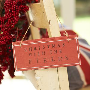 Personalised Christmas Sign - art & decorations