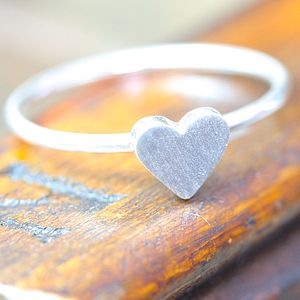 You Me Oui Silver Heart Ring - gifts under £25