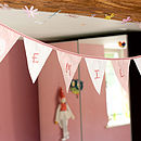 Baby Pink & White Personalised Bunny Bunting