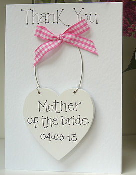 Personalised Thank You Keepsake Card