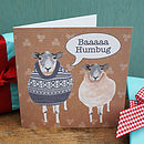 Christmas 'Baaaaaa Humbug' Sheep Card