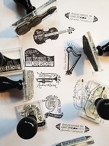 Personalised Music Stamps - personalised