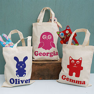 Personalised Animal Activity Mini Shopper Bag - easter egg hunt