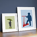 Personalised Child Silhouette Print