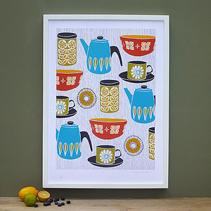 Retro Kitchen Screen Print - food & drink