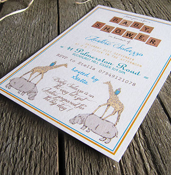 Personalised 'Baby Shower' Invitation