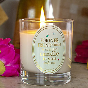 Scented Friend Candle - candles & candlesticks