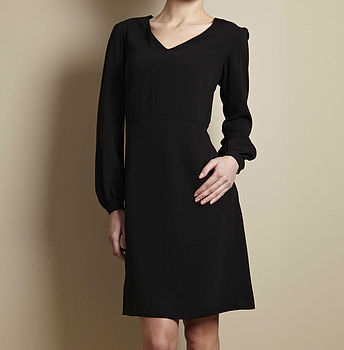 Swift Long Sleeve Black Dress