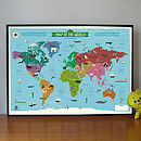 My First World Map Poster
