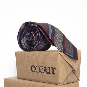 Pure British Silk Oxford Tie In Chevron - ties & tie clips