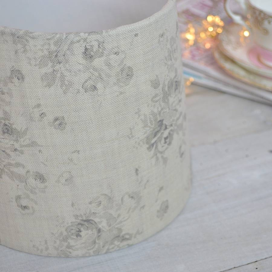 Millie Gustavian Grey Tapered Drum Lampshade