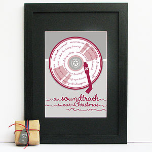 Soundtrack To Christmas Personalised Print - festive wall art