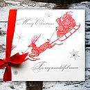 Personalised Christmas Card With Box