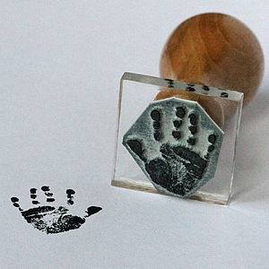 Personalised Miniature Handprint Stamp - keepsakes
