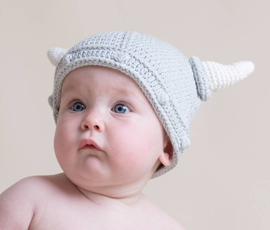 Hand Crochet Baby Viking Hat By Attic Notonthehighstreet Com