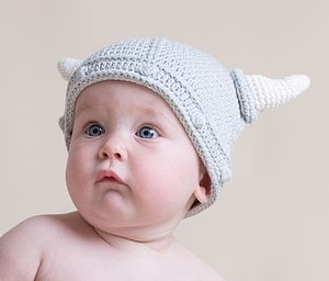 Hand Crochet Baby Viking Hat - children's accessories