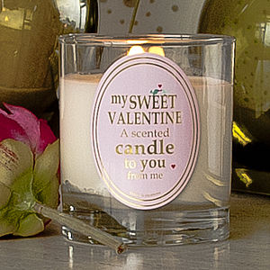 Scented Valentine Candle - candles & candlesticks