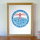 'We Will Guide You' Lighthouse Art Print
