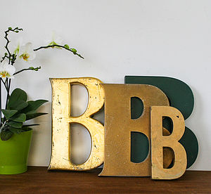 Genuine Vintage Shop Letters 'B' - room decorations