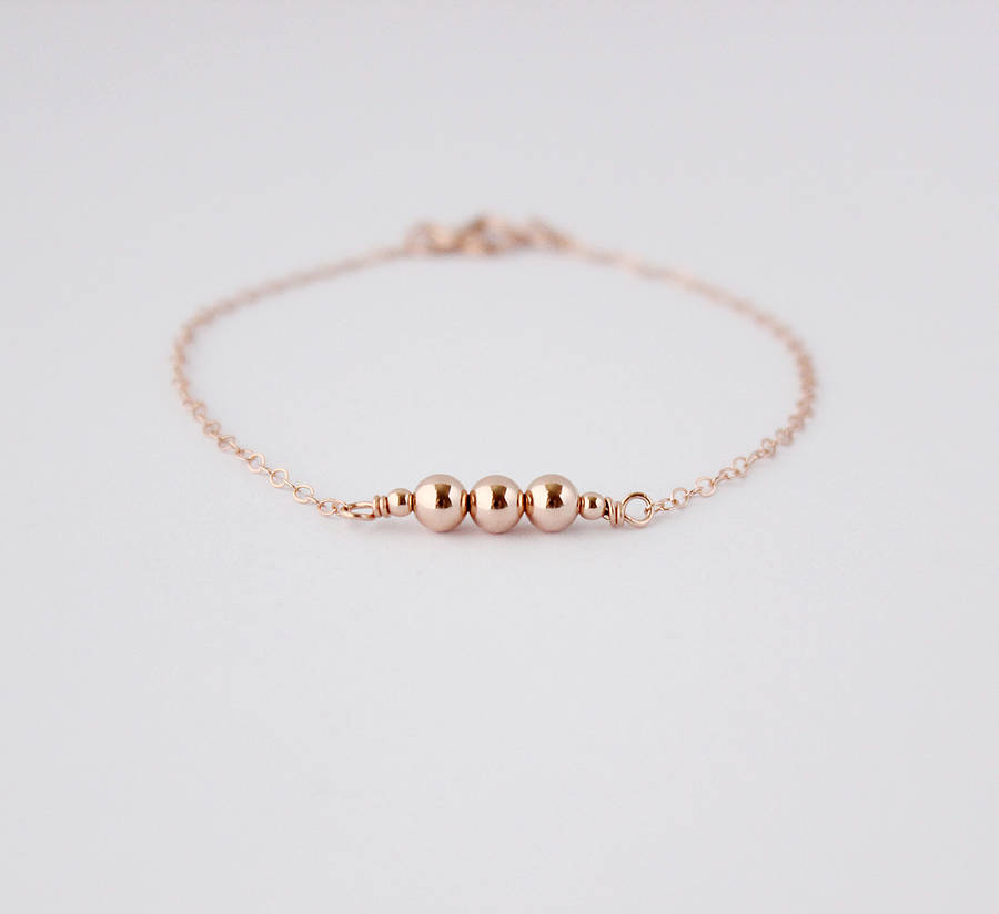 rose gold filled bracelet by beadin 39 nora. Black Bedroom Furniture Sets. Home Design Ideas