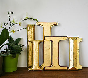 Genuine Vintage Shop Letters 'I' - home accessories
