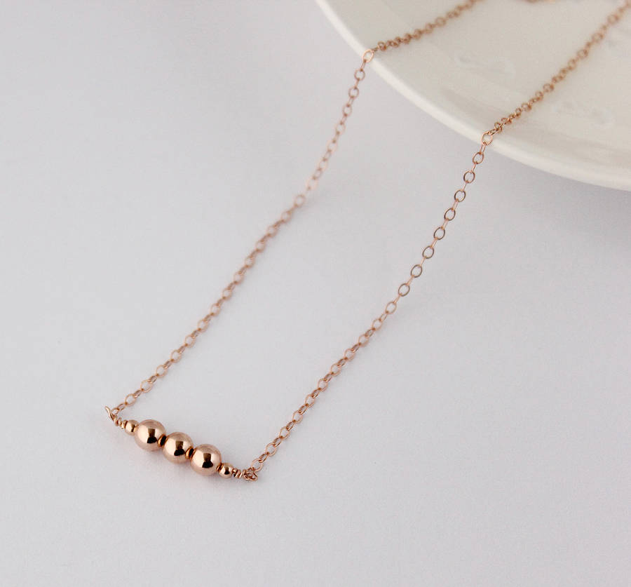 Rose gold filled necklace by beadin nora notonthehighstreet rose gold filled necklace aloadofball Choice Image