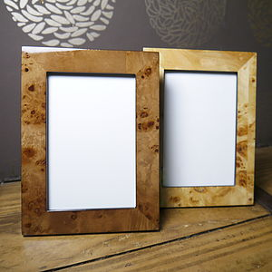 Classic Wood Grain Picture Frame In Gift Box - picture frames