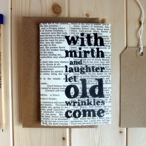 'With Mirth And Laughter' Shakespeare Birthday Card