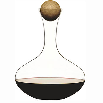 Glass Wine Carafe With Wooden Stopper