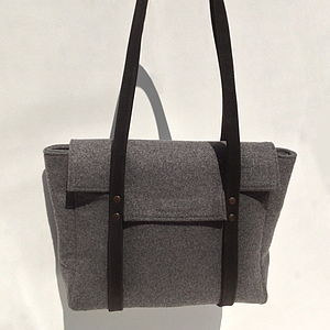 Handmade Wool And Leather Clerkenwell Bag - bags & purses