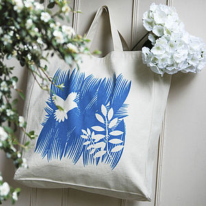 Botanical Bird Tote Bag