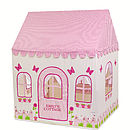 Personalised Rose Cottage and Tea Shop Playhouse with personalised front door