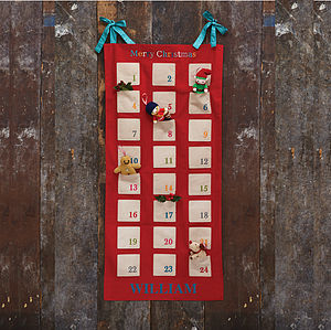 Personalised Fabric Advent Calendar - view all decorations